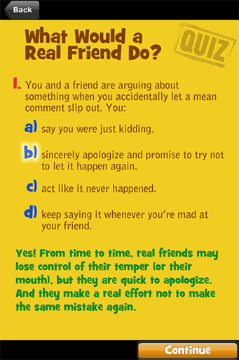 Middle School Confidential™ - Apps - Real Friends vs. the Other Kind